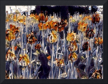 Abstract Gold Tulips