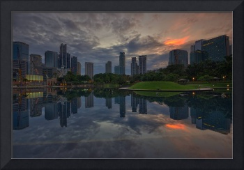 Cloudy Sunrise at KLCC Park