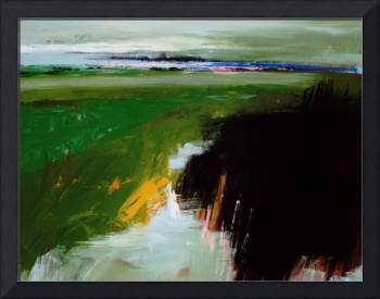 Green Field - Abstract Landscape