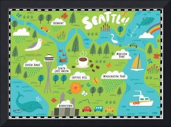 Illustrated Map of Seattle by Nate Padavick