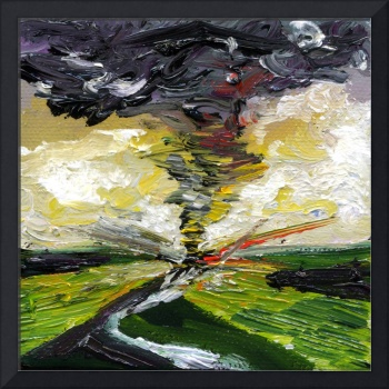 Tornado Crossing The Street Oil Painting