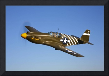 A P 51A Mustang in flight