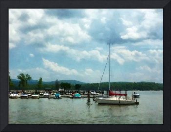 Sailboat At Dock Cold Springs NY