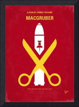 No317 My MacGruber minimal movie poster