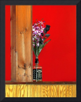 Liquor Bottle Vase-1