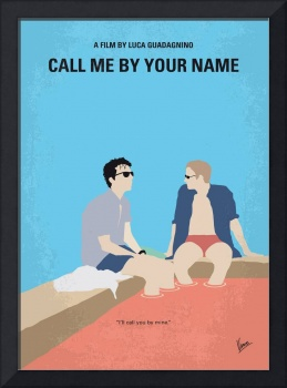 No1124 My Call Me by Your Name minimal movie poste