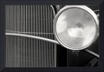 Black and White Vintage Car Abstract 1