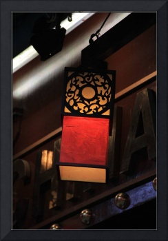 Chinese lamp in London