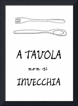Italian food quote kitchen art poster