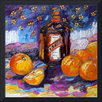 Cointreau and Oranges Oil Painting by Ginette