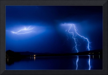 Lake Lightning Reflection