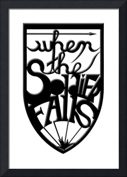 when the soldier falls (black, beveled)