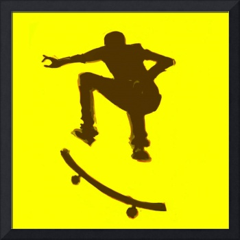 Skateboarder 2 . yellow brown (c)