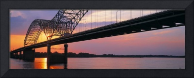 Sunset Hernandez DeSoto Bridge and Mississippi Ri