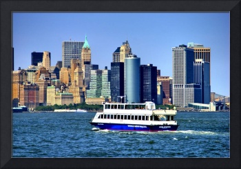 Lower Manhattan View from Hudson Harbor
