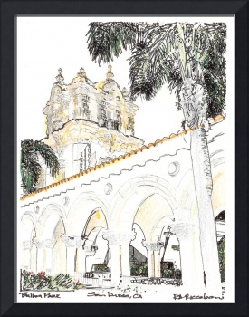 Balboa Park drawing by RD Riccoboni