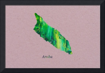 Artistic Map of Aruba
