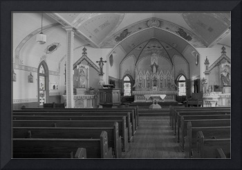 Interior of St. Mary Church in Plantersville Texas