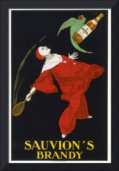 Vintage Advertising Poster - Sauvion's Brandy