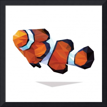 Geometric Abstract Clown Fish