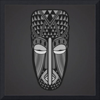 African Mask Framed Art Print