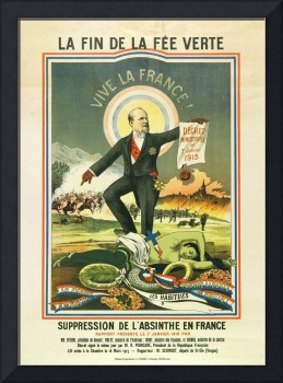 Absinthe Prohibition in France 1915 by Gantner