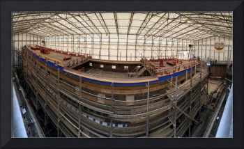 Construction site of the ship Hermione Rochefort