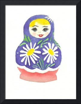 Russian Doll With Daisies