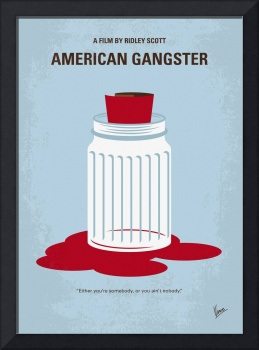 No748 My American Gangster minimal movie poster