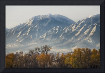 Boulder Colorado Flatirons Country Fall View