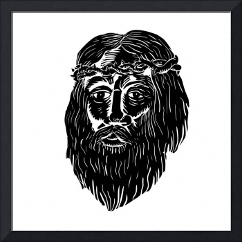 jesus-face-crown-of-thorns-BW-WC