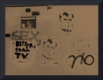 Electric Box Graffitti :Sex Better Than TV?