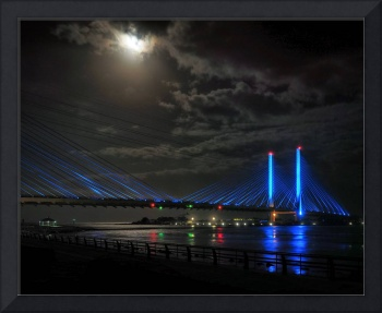 Super Moon over the Indian River Inlet Bridge