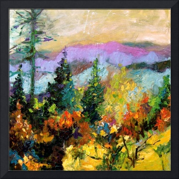 Georgia Autumn Oil Painting by Ginette Callaway