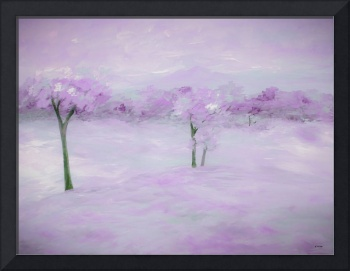 Purple Landscape with Trees