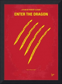 No026 My Enter the dragon minimal movie poster