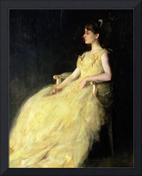 A Lady in Yellow, 1888 (oil on panel)