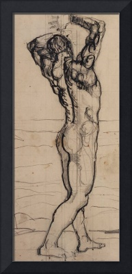 Male Act, Study for the Truth, c.1901-02 (pencil &