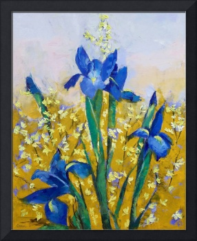 Iris and Forsythia