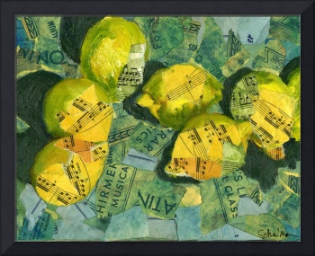 Luscious Lemons, Abstract Art Piano Sheet Music Co