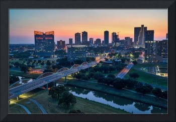 Fort Worth Cityscape at Sunrise