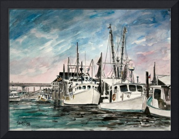 boats nautical art print