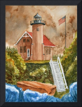 Sand Island Light Out by LAMeyer
