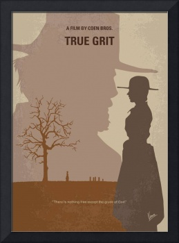 No860 My True grit minimal movie poster