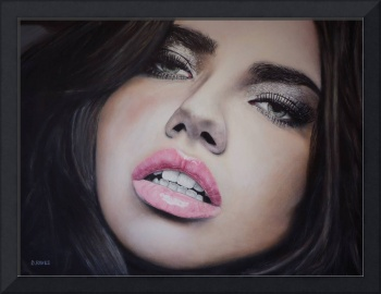 Adriana Lima Portrait oil painting