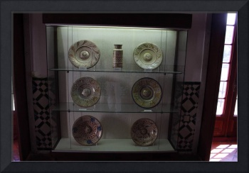 Ancient Dishes of sovereign in historic building