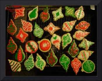 Ornament Sugar Cookies with Fiori De Sicilia, wet-