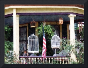 Porch With Bird Cages