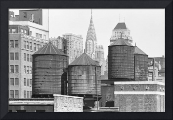 Manhattan Skyline with WaterTowers, 1978