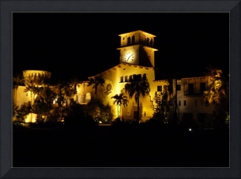 Santa Barbara California Court House at Night